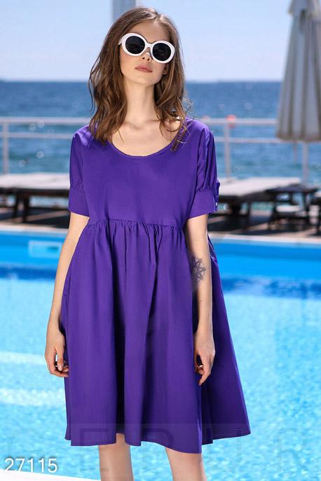 Купить Платья / Миди, Летнее платье oversize, Платье-27115, GEPUR, фиолетовый