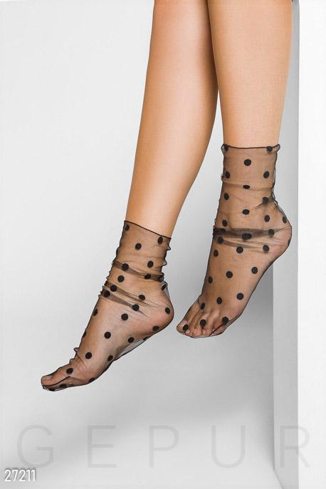 Купить Аксессуары / Носки, колготки, Стильные носки в горошек, Носки-27211, GEPUR, черный