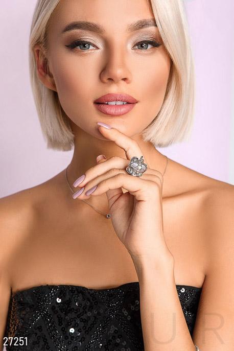 Купить Аксессуары / Кольца, Объемное кольцо-корона, Кольцо-27251, GEPUR, серебристый