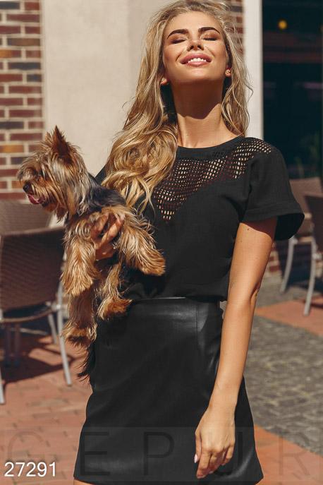 Купить Блузы, рубашки, Блуза с коротким рукавом, Блуза-27291, GEPUR, черный