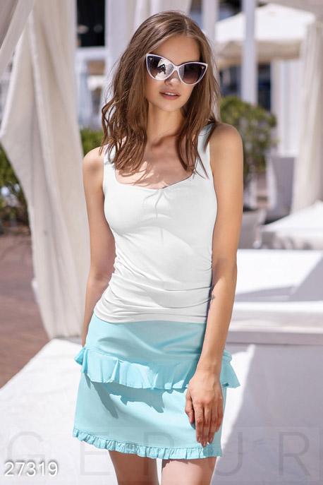 Купить Юбки, Короткая летняя юбка, Юбка-27319, GEPUR, нежно-голубой
