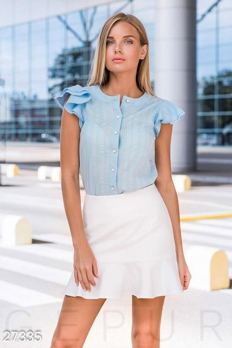Купить Блузы, рубашки, Легкая женская блуза, Блуза-27335, GEPUR, нежно-голубой