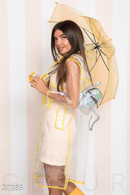 Купить Аксессуары / Зонты, Прозрачный женский зонт, Зонт-27385, GEPUR, желтый