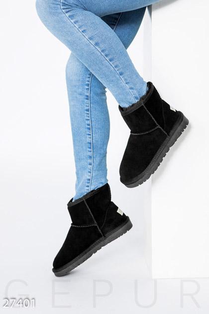 Купить Обувь / Угги, Короткие замшевые угги, Угги-27401, GEPUR, черный