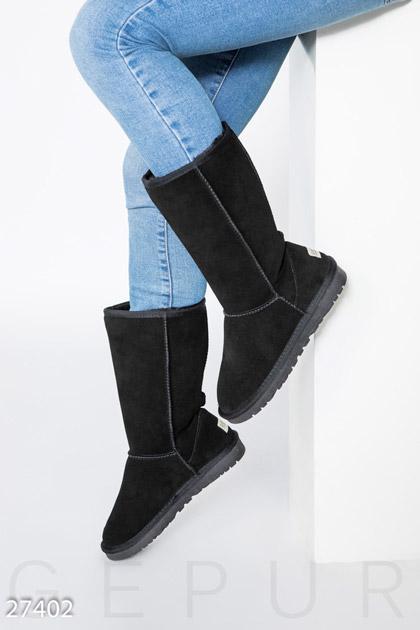 Купить Обувь / Угги, Высокие замшевые угги, Угги-27402, GEPUR, черный