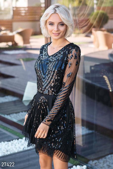 Расклешенное платье-мини