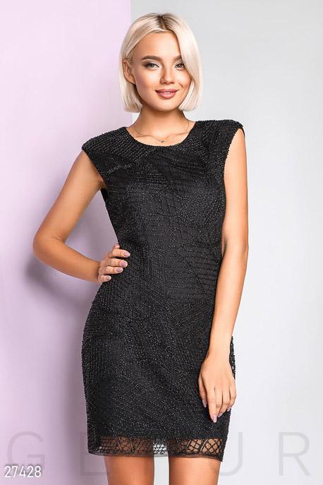 Купить Платья / Мини, Праздничное платье с бисером, Платье-27428, GEPUR, черный