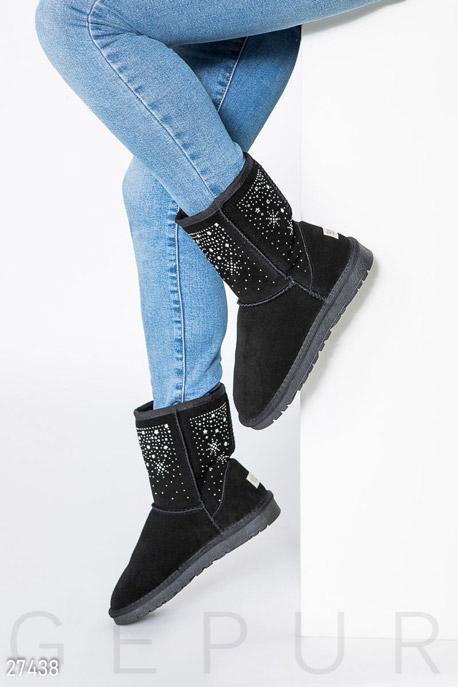 Купить Обувь / Угги, Угги с камнями, Угги-27438, GEPUR, черный