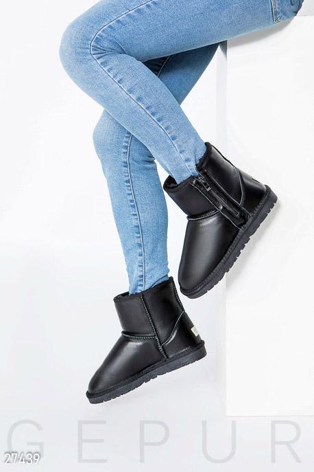 Купить Обувь / Угги, Кожаные угги Gepur, Угги-27439, черный
