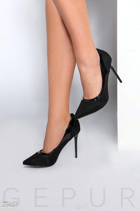 Купить Обувь / Туфли, Классические замшевые туфли, Туфли-27461, GEPUR, черный