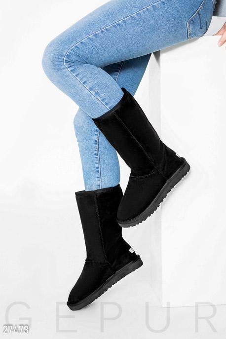 Обувь / Угги, Теплые женские угги, Угги-27473, GEPUR, черный  - купить со скидкой