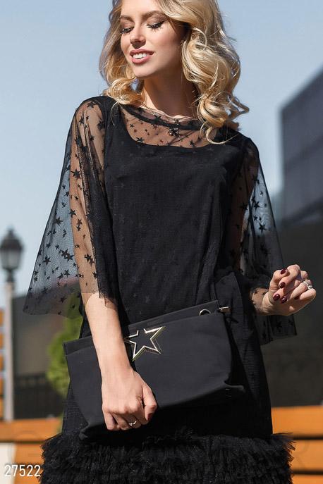 Купить Сумки, клатчи, кошельки / Сумки, Женская сумка на плечо, Сумка-27522, GEPUR, черный