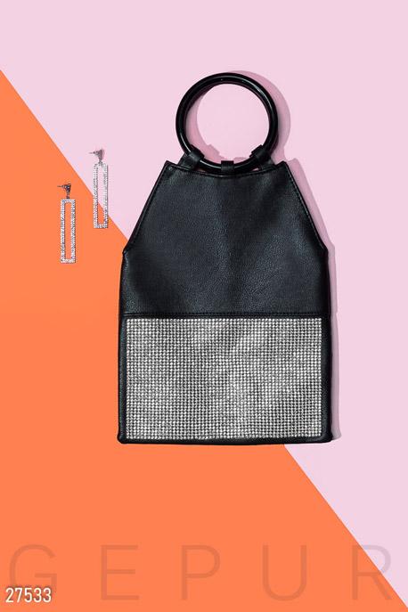 Купить Сумки, клатчи, кошельки / Сумки, Вечерняя сумка с декором, Сумка-27533, GEPUR, черный
