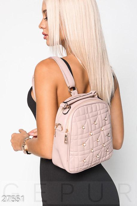 Купить Сумки, клатчи, кошельки / Рюкзаки, Кожаный рюкзак-сумка, Рюкзак-27551, GEPUR, лиловый