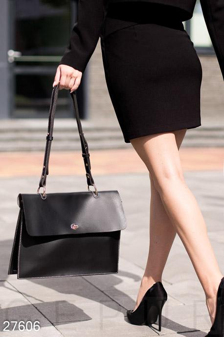 Купить Сумки, клатчи, кошельки / Сумки, Женская сумка-портфель, Сумка-27606, GEPUR, черный
