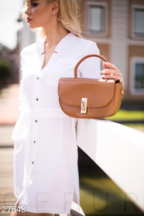 Купить Сумки, клатчи, кошельки / Сумки, Аккуратная женская сумка, Сумка-27648, GEPUR, светло-коричневый