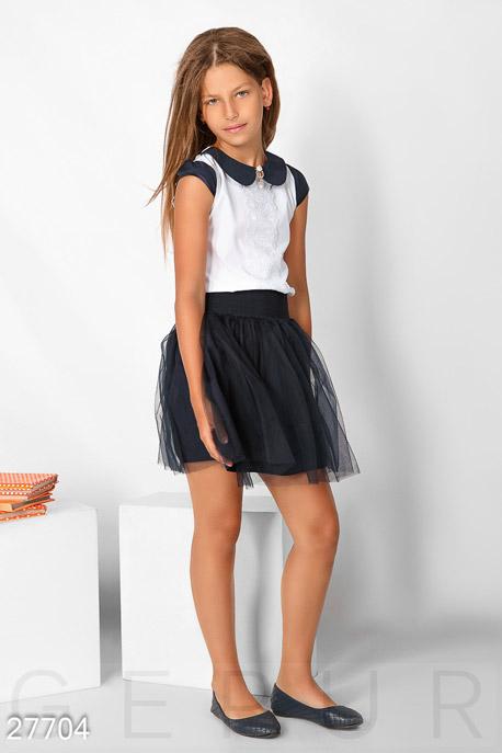 Купить Детская одежда, Школьная юбка-пачка, Юбка-27704, GEPUR, темно-синий