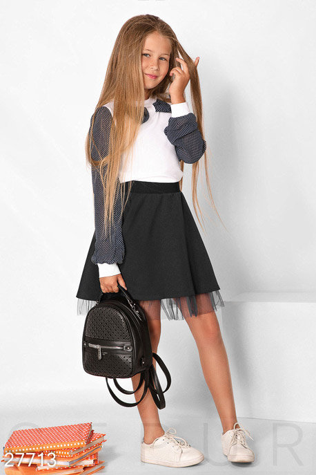 Купить Детская одежда, Детская юбка с фатином, Юбка-27713, GEPUR, черный