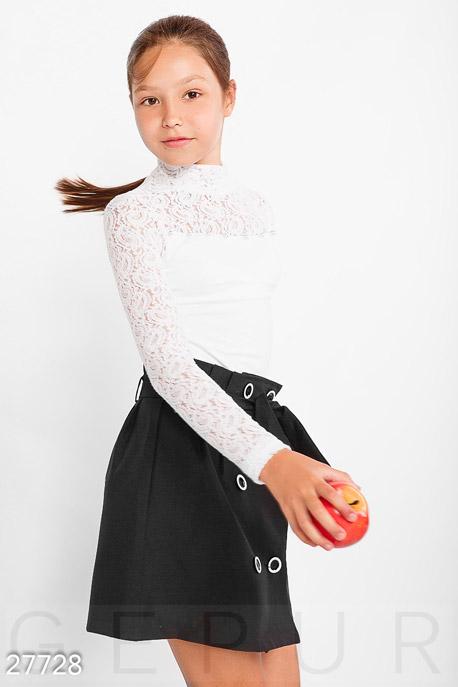 Купить Детская одежда, Водолазка с бусинами, Гольф-27728, GEPUR, белый