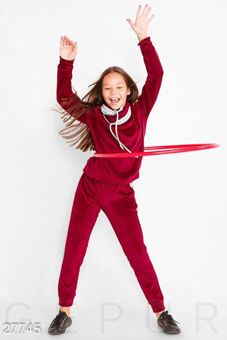Купить Детская одежда, Спортивный костюм для девочки, Костюм-27745, GEPUR, розовый