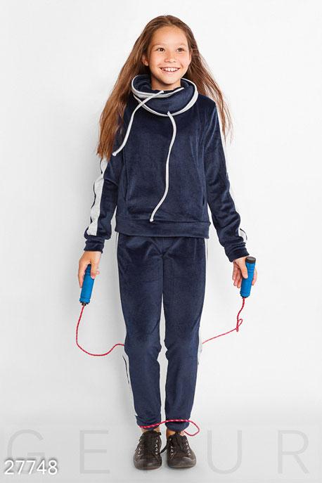 Купить Детская одежда, Костюм для девочки, Костюм-27748, GEPUR, темно-синий