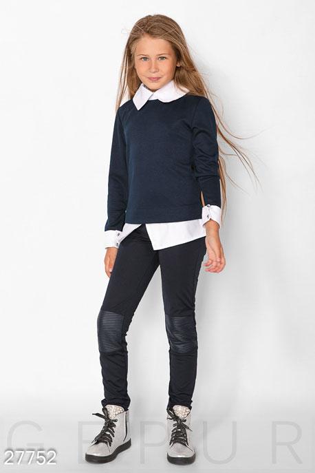 Купить Детская одежда, Детский свитшот-рубашка, Свитшот-27752, GEPUR, сине-белый