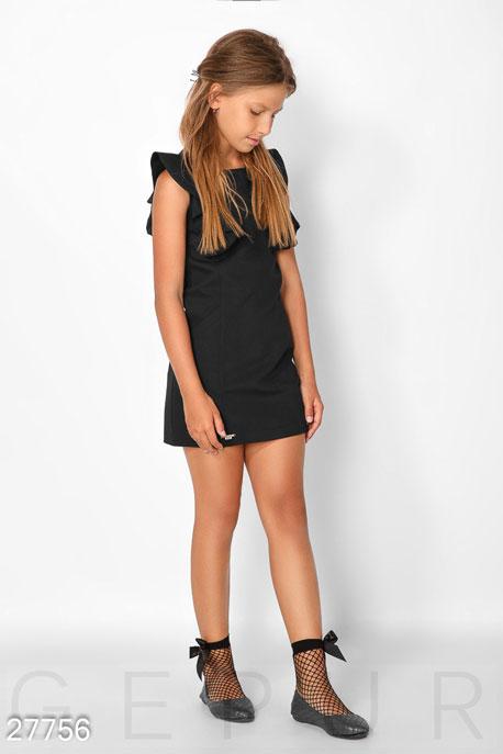 Купить Детская одежда, Школьный сарафан с воланами, Сарафан-27756, GEPUR, черный