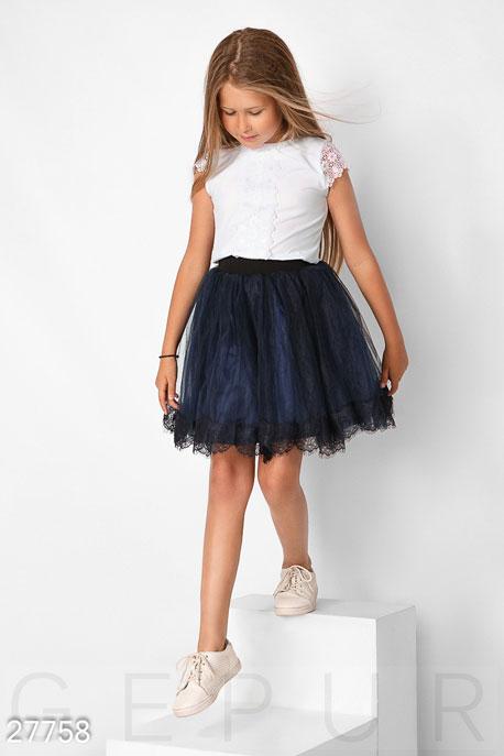 Купить Детская одежда, Юбка с фатином, Юбка-27758, GEPUR, темно-синий