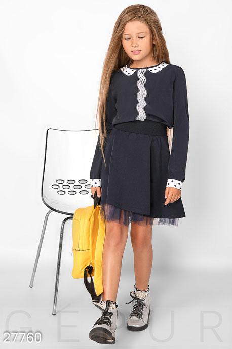 Купить Детская одежда, Легкая школьная блуза, Блуза-27760, GEPUR, темно-синий