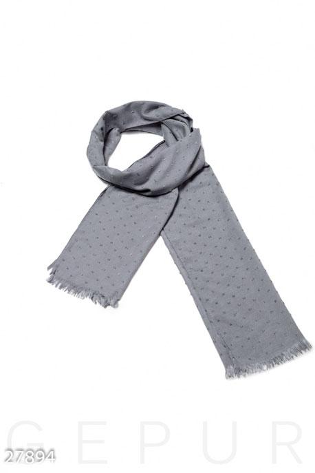 Купить Перчатки, шарфы, шапки / Шарфы, Палантин с декором, Палантин-27894, GEPUR, серый