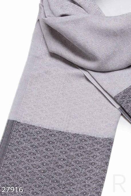 Купить Перчатки, шарфы, шапки / Шарфы, Палантин с узором, Палантин-27916, GEPUR, серый