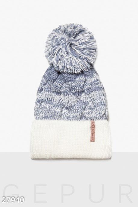 Двухцветная зимняя шапка GEPUR