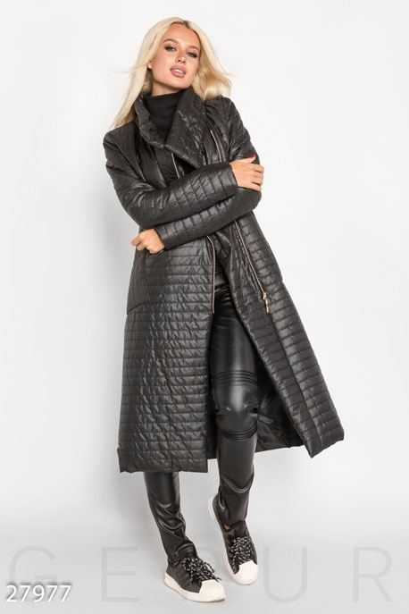 Длинное стеганое пальто GEPUR