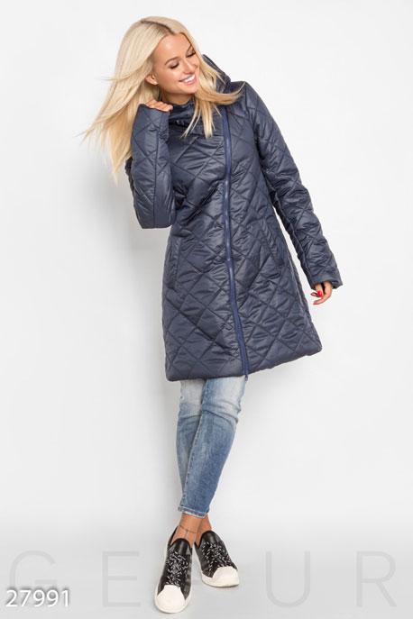 Стеганое пальто-клеш GEPUR