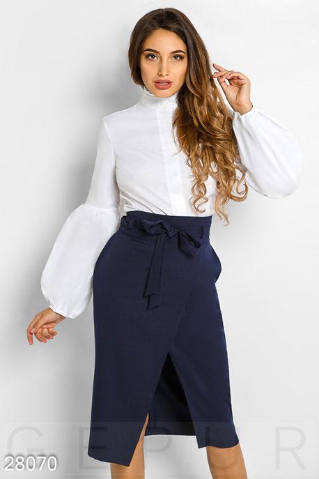 Купить Блузы, рубашки, Закрытая офисная рубашка, Рубашка-28070, GEPUR, белый