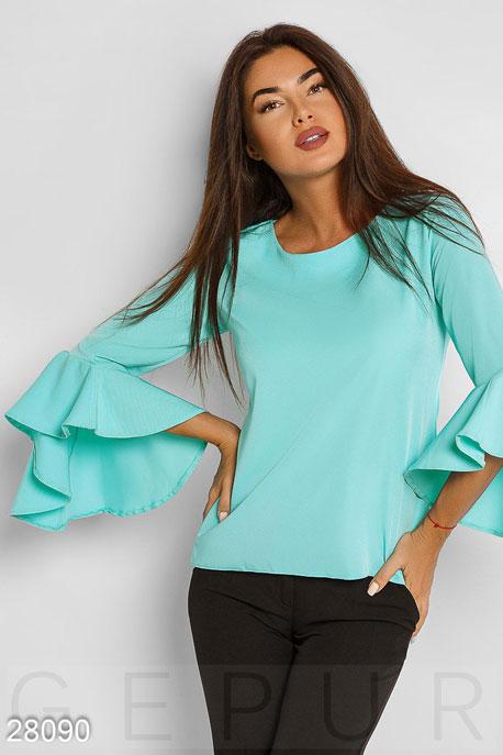 Купить Блузы, рубашки, Эффектная женская блуза, Блуза-28090, GEPUR, мятный