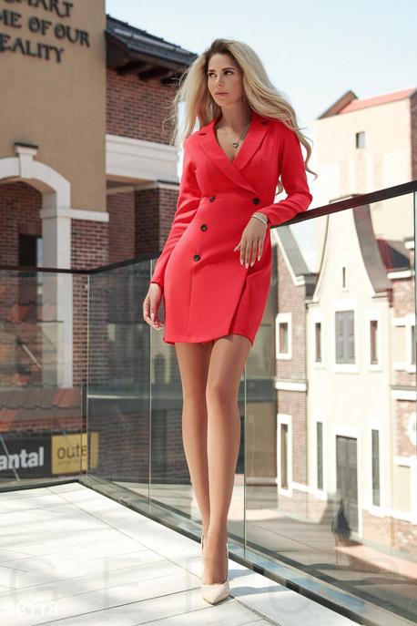 Купить Платья / Мини, Изящное платье-пиджак, Платье-28118, GEPUR, сицилийский апельсин