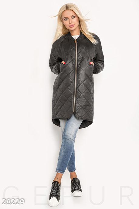 Купить Верхняя одежда / На синтепоне, Асимметричная женская куртка, Куртка(батал)-28229, GEPUR, черный