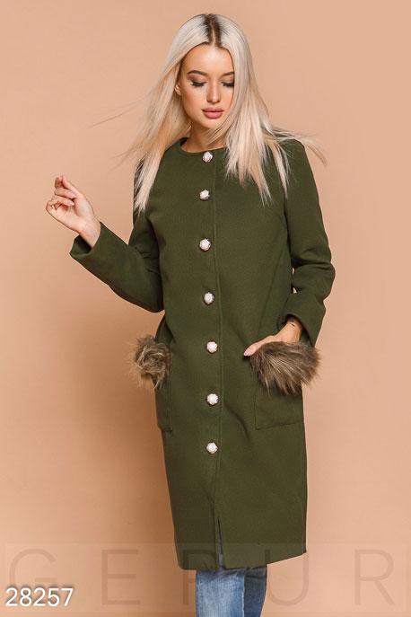 Пальто без воротника GEPUR