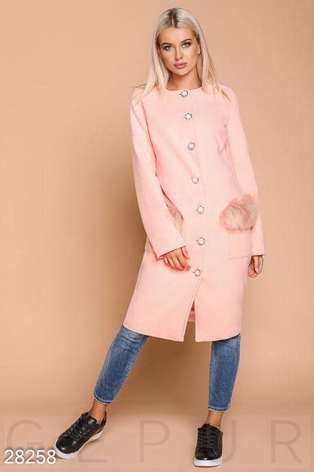 Прямое кашемировое пальто купить в интернет-магазине в Москве, цена 1829.56 |Пальто-28258