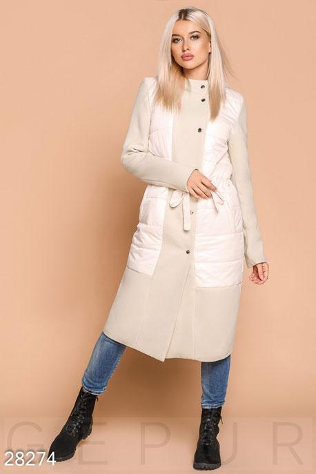 Комбинированное женское пальто GEPUR