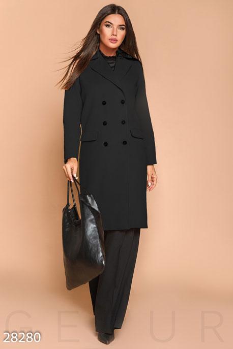Длинное двубортное пальто купить в интернет-магазине в Москве, цена 1813.14 |Пальто-28280
