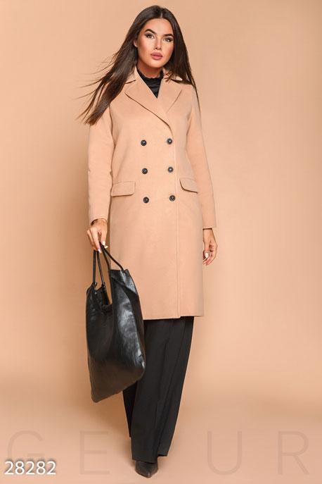 Прямое кашемировое пальто купить в интернет-магазине в Москве, цена 1813.14 |Пальто-28282