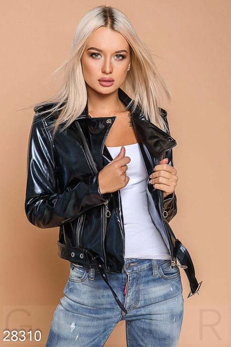 Купить Верхняя одежда / Кожаные куртки, Модная куртка-косуха, Куртка-28310, GEPUR, темно-синий
