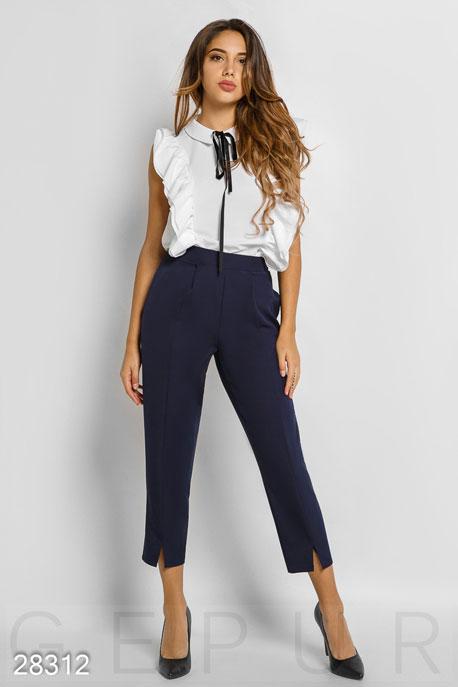 Купить Брюки, леггинсы, шорты / Большие размеры, Стильные укороченные брюки, Брюки(батал)-28312, GEPUR, темно-синий