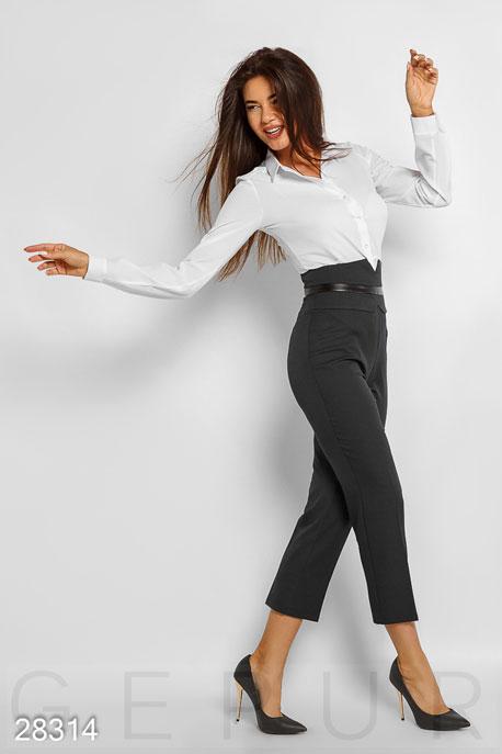 Купить Брюки, леггинсы, шорты / Большие размеры, Высокие деловые брюки, Брюки(батал)-28314, GEPUR, черный