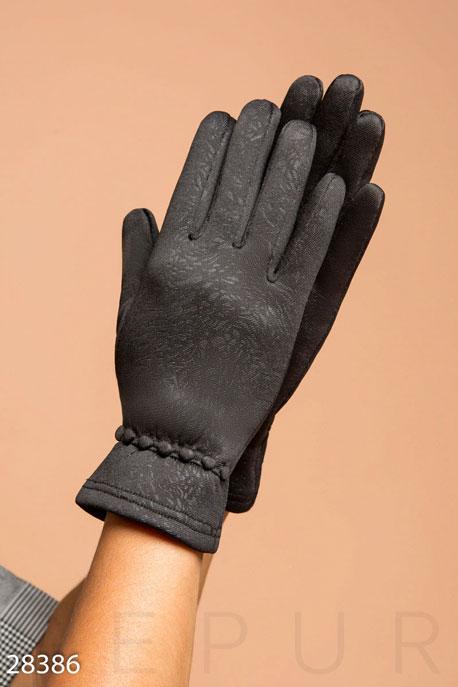 Купить Перчатки, шарфы, шапки / Перчатки, Демисезонные женские перчатки, Перчатки-28386, GEPUR, черный