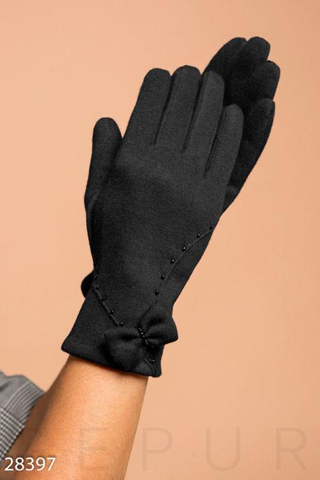 Купить Перчатки, шарфы, шапки / Перчатки, Перчатки из трикотажа, Перчатки-28397, GEPUR, черный