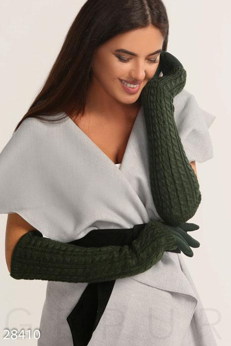 Купить Перчатки, шарфы, шапки / Перчатки, Перчатки с утеплителем, Перчатки-28410, GEPUR, темно-зеленый