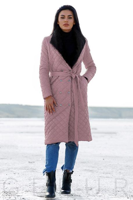 Удлиненное стеганое пальто GEPUR